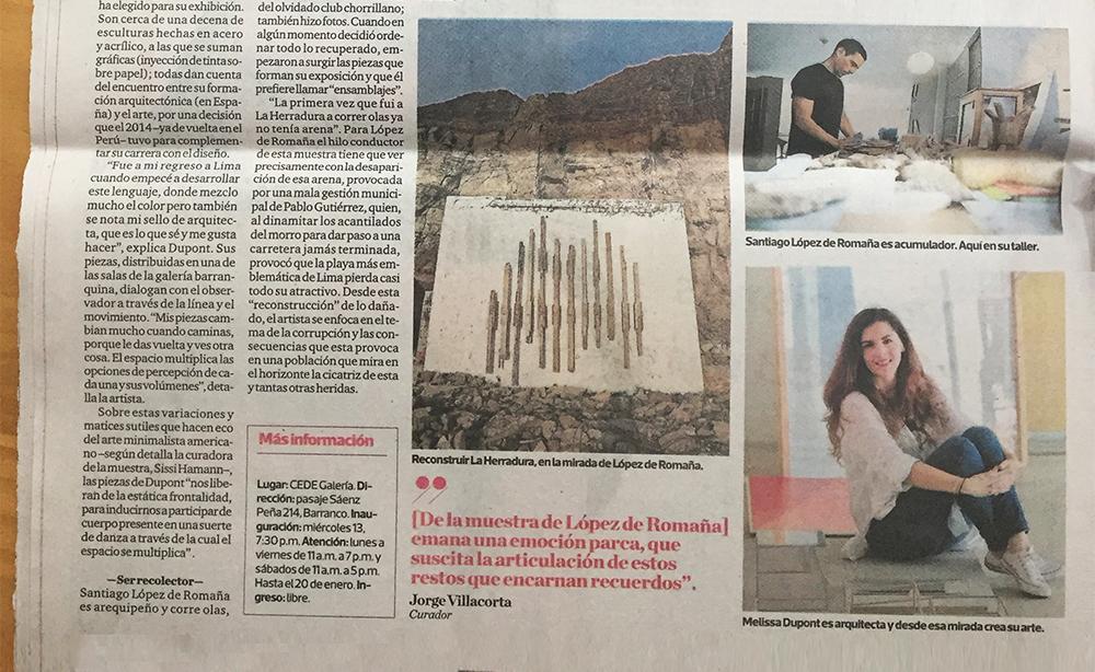 """Traslación en Luces, de """"El Comercio""""."""