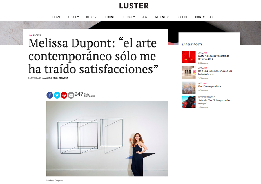 Entrevista Luster Magazine