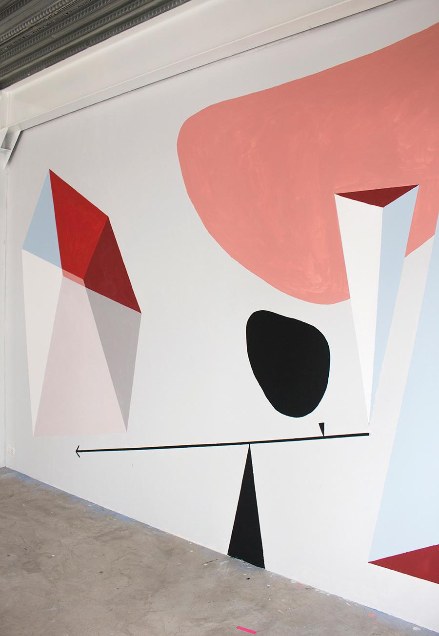 Equilibrio y Gravedad I. Mural